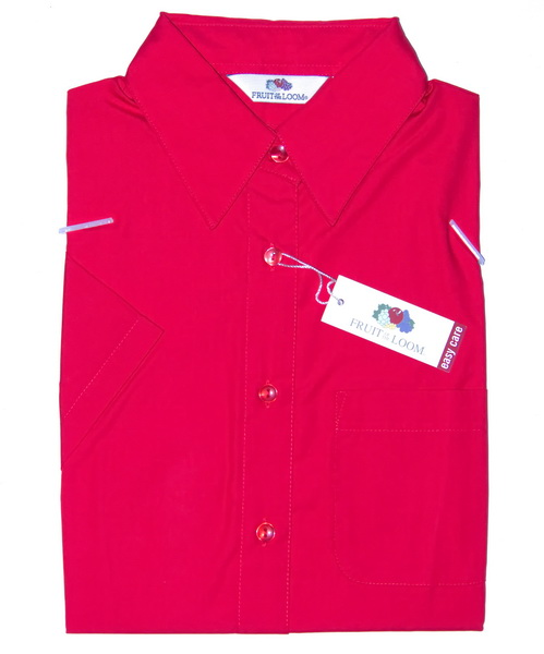 Fruit of the Loom Bluse kurz L Navy blau Easy Care Lady-Fit Poplin Shirt Hemd